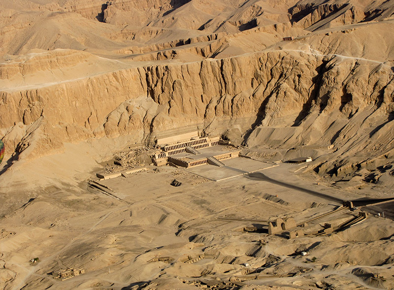 A view of Queen Hatshepsut temple