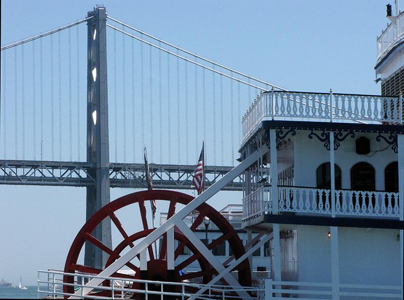 Light was coming through bridge tower openings.  1690