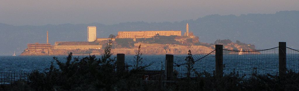 Alcatraz as night falls. 2061r.