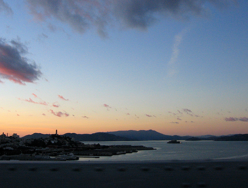 From Bay Bridge: the Golden Gate Bridge, Coit Tower & Alcatraz