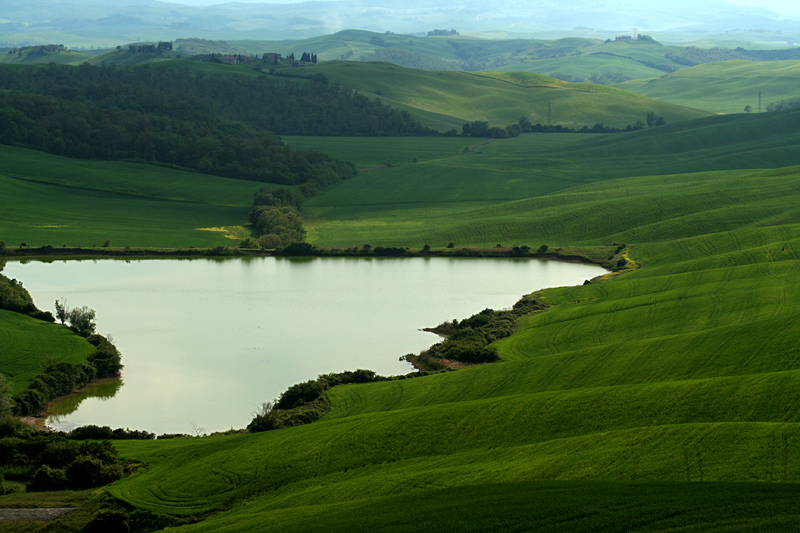 Returned here, on the way back, to dusk on rolling hills