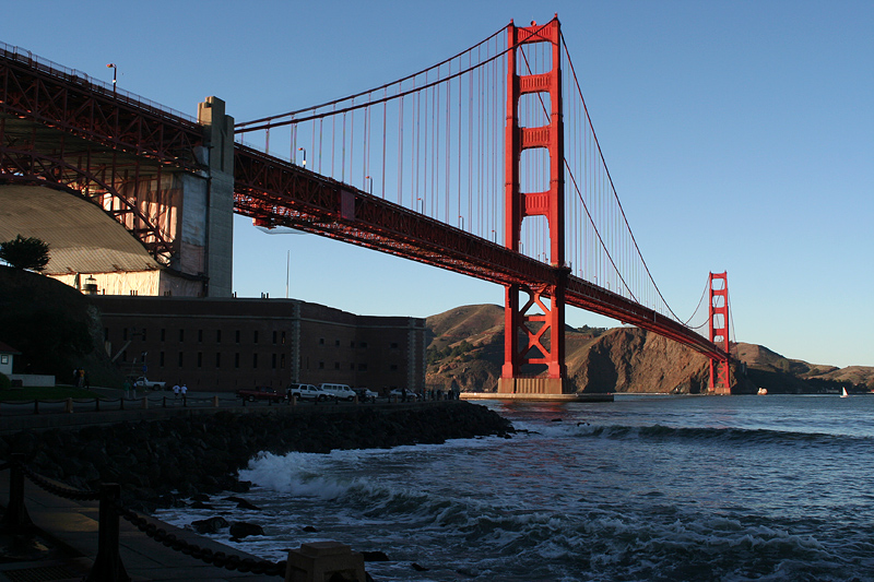 At Fort Point now, just down the road