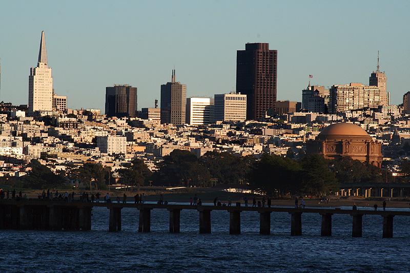 San Franciscos landmarks from Crissy Field