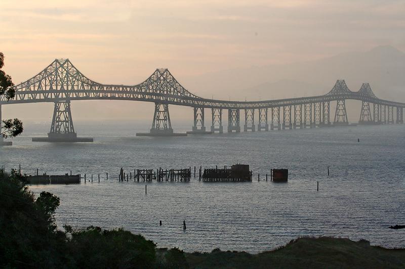 From Pt. Molate, the San Rafael Bridge