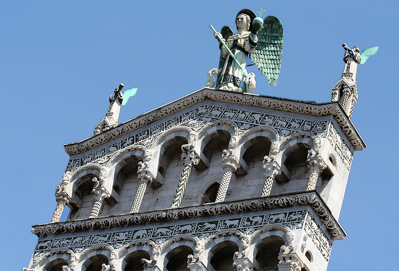 Archangel St. Michael and musical angels.<br>What the boy was viewing,