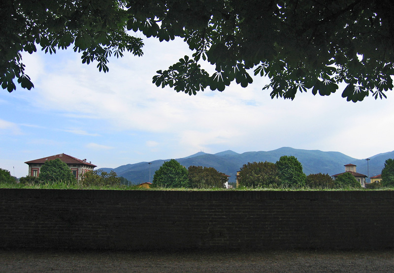 City and hills from the Wall
