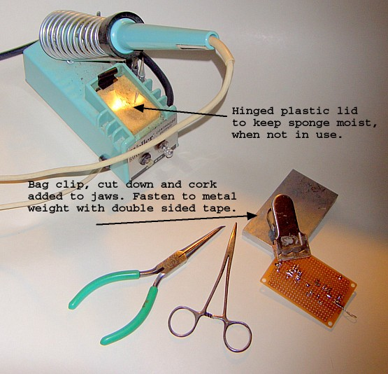 Miscellaneous soldering aids.