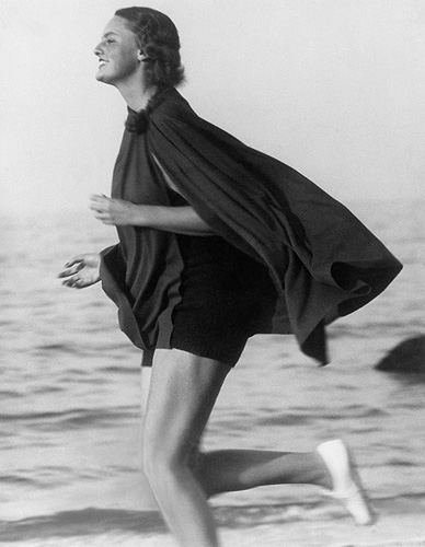 Lucile Brokaw on the Long Island Beach, 1933