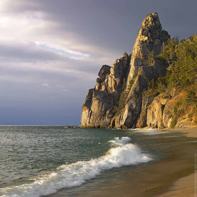 Lake Baikal: Cape Minor Belfry at sunrise