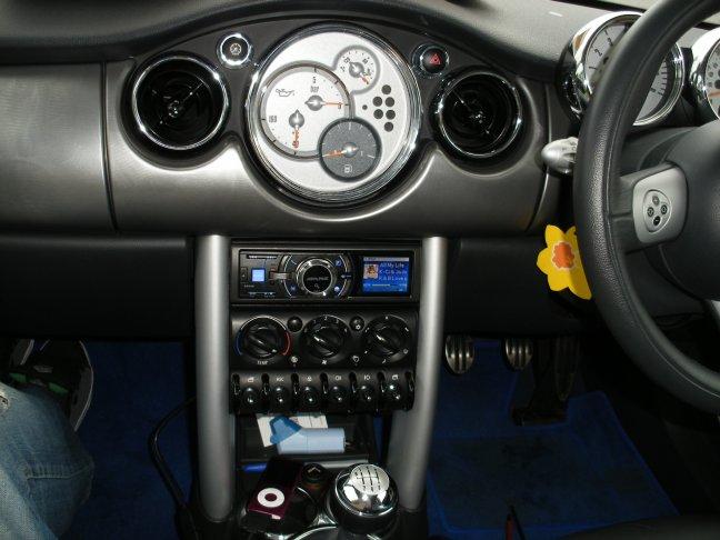 Yellow Mini Cooper S Dash 54 Reg Jpg