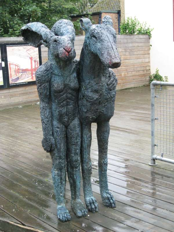 Standing Lady-Hare with Dog 2