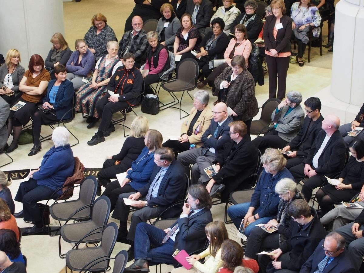 Kay Flowers speaking at Ken Trimmers Memorial PC050071.jpg