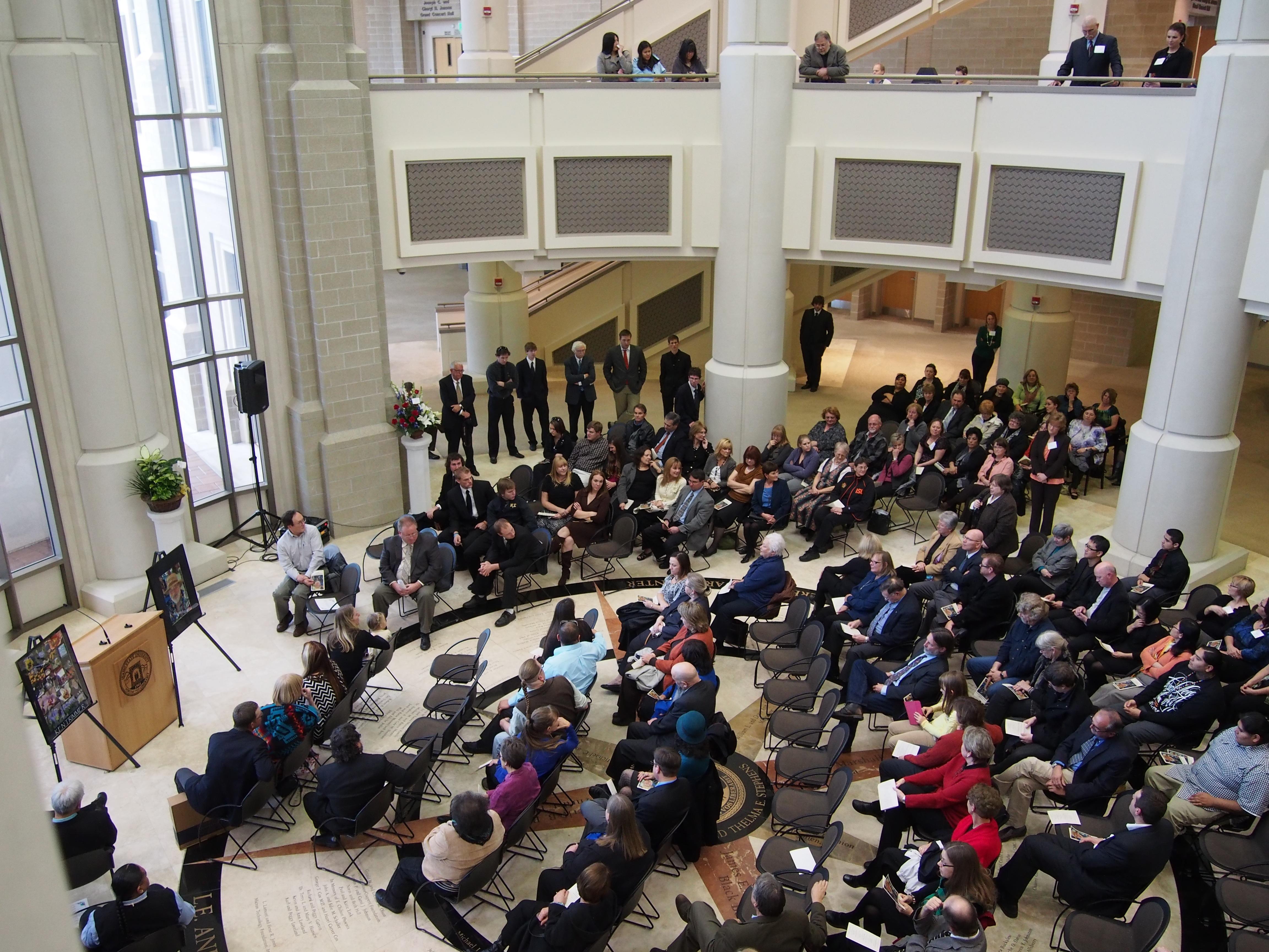 Kay Flowers speaking at Ken Trimmers Memorial PC050078.jpg