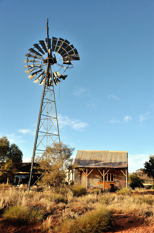 Windmill and shack
