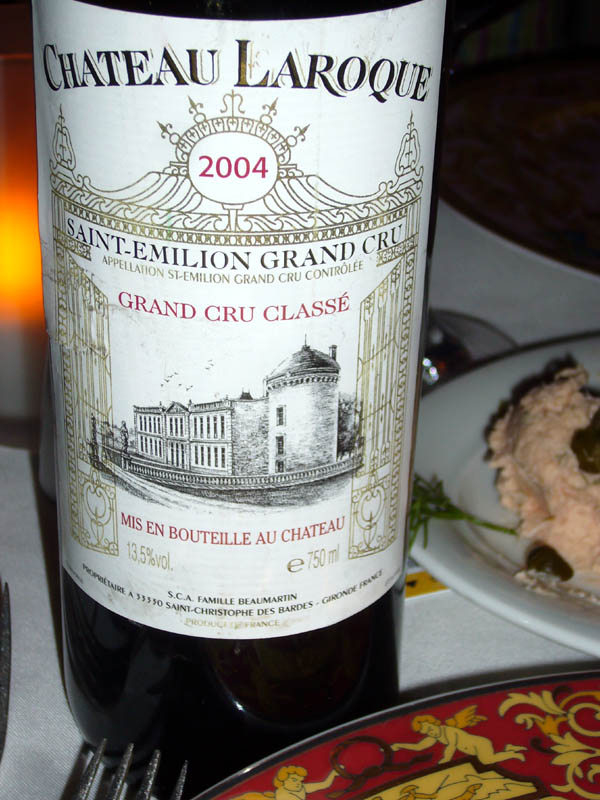 Sept 30 Dinner Le Bistro Wine