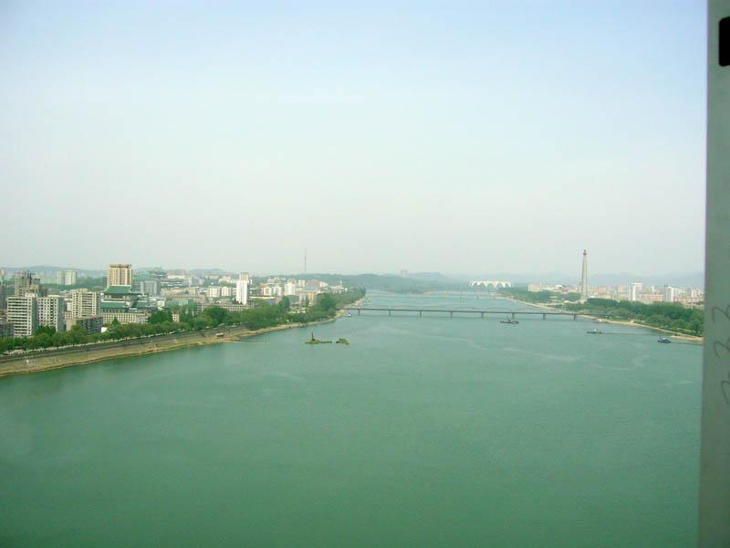 Yanggakdo International Hotel, view from my room 1