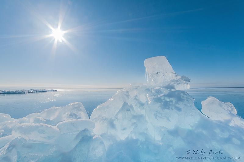 Blue ice push on Superior