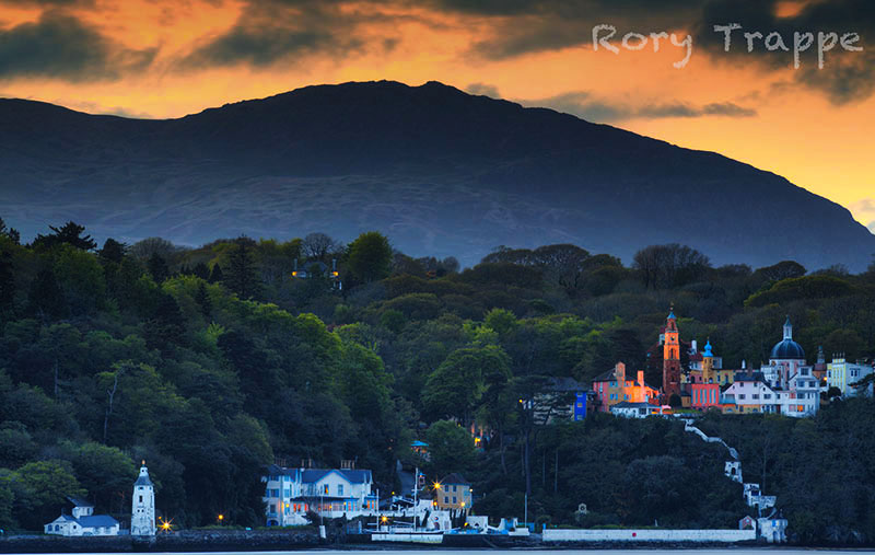The view of Portmeirion taken from Ynys