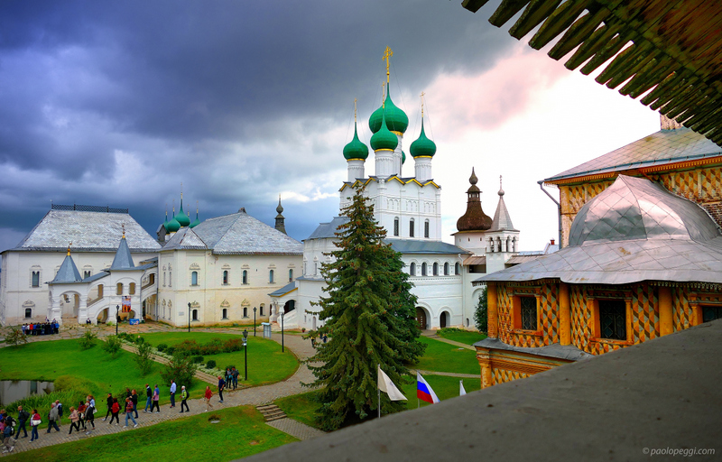 The calm before the storm at Rostov Kremlin,Russia