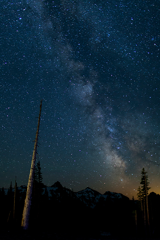 Mt. Rainier  Milky Way at Paradise