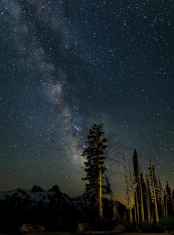 Mt. Rainier  Milky Way at Paradise 2