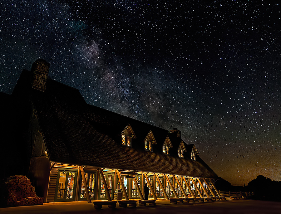 Mt. Rainier  Starry, Starry, Night