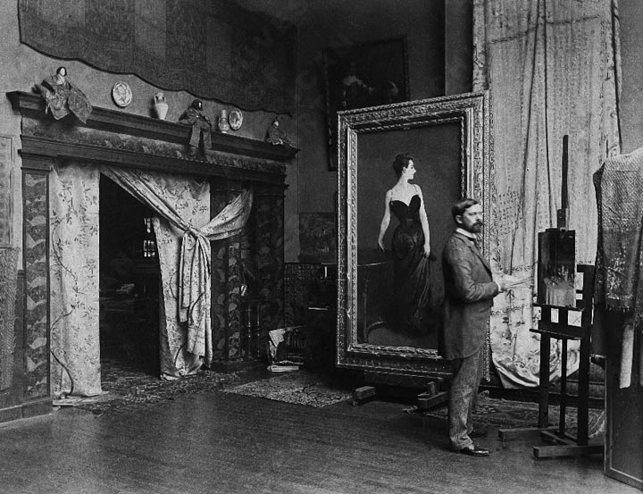 1884 - John Singer Sargent with Madame X