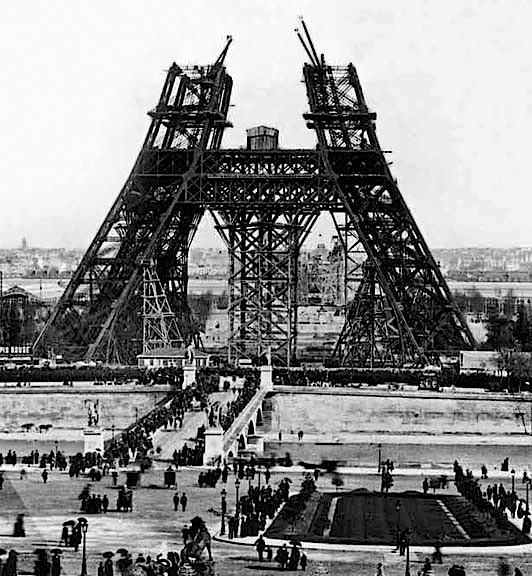 1888 - Eiffel Tower under construction