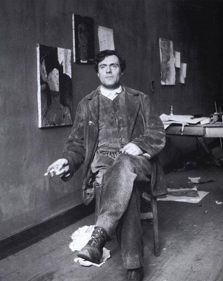 1915 - Modigliani in his studio