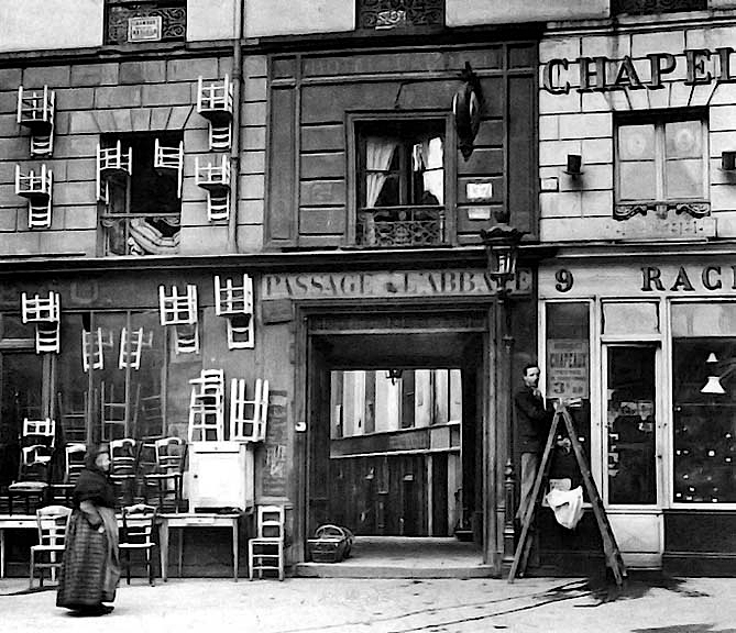 1896 - Chair and hat shops