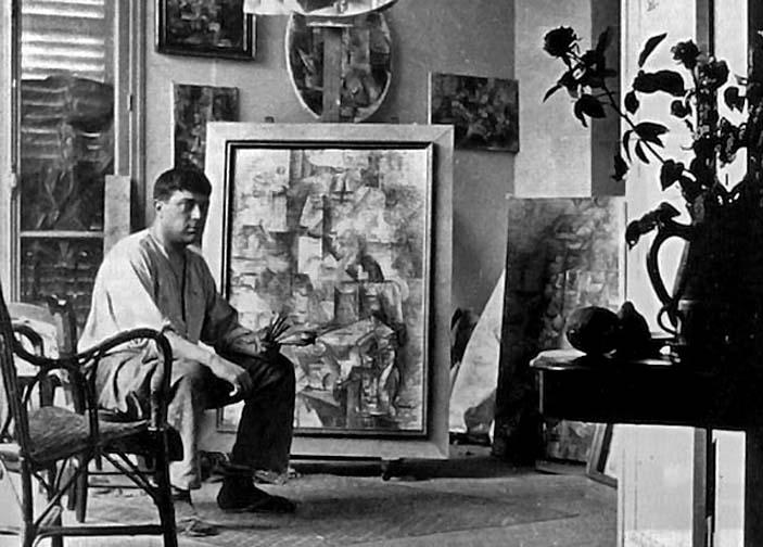 1912 - Braque in his studio