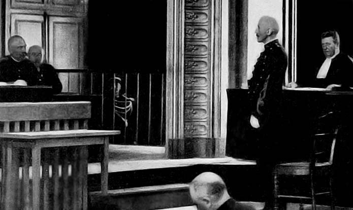 1899 - Alfred Dreyfus at his second trial