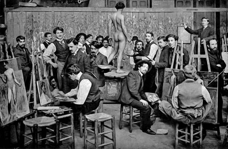 1890s - Class at Ecole des Beaux-Arts