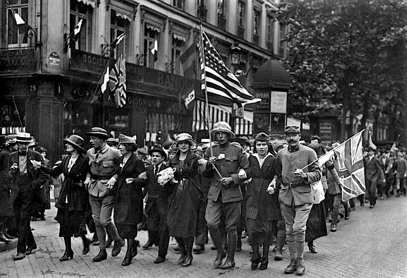 1919 - Celebrating Armistice Day, November 11th