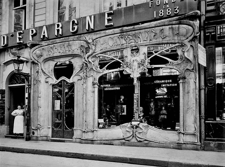 1904 - Store with Art Nouveau facade, Rue de St. Augustin