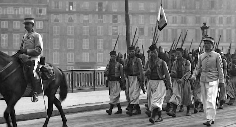 1913 - North African colonial soldiers