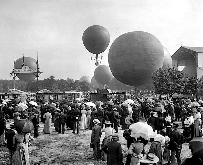 1900 - Hot air balloon competition, Bois de Vincennes