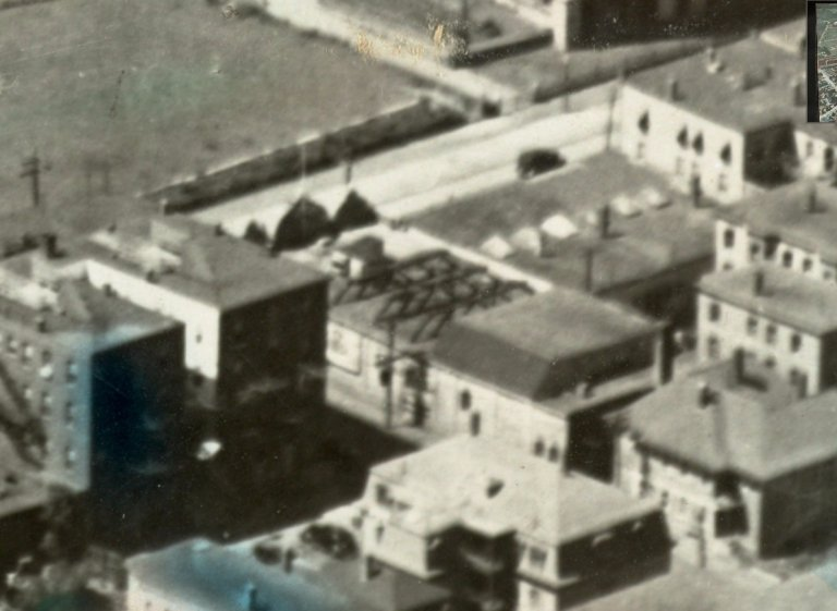 Close crop of aerial showing the Star Theater