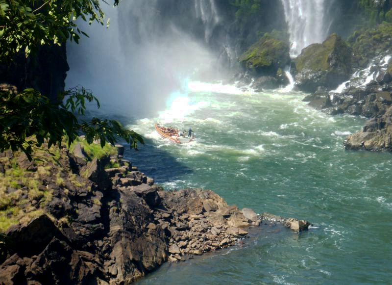 Boat trip into the falls - 1