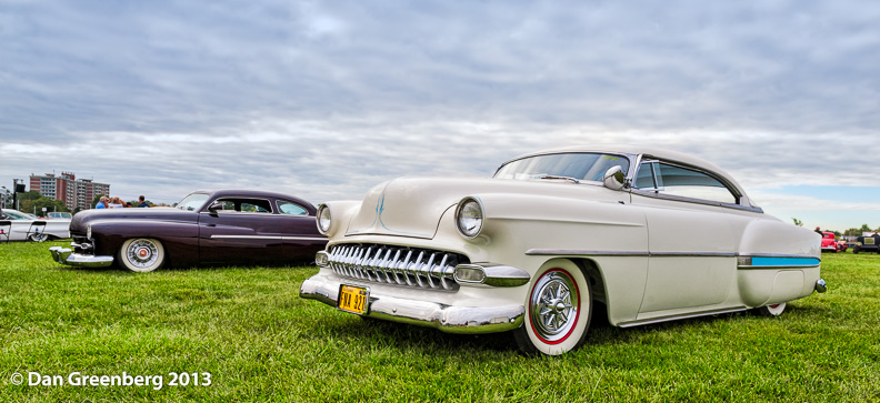 1954 Chevy with 1951 Mercury in the background