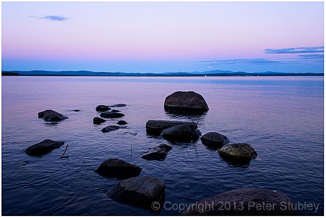 Lake Champlain rocks.