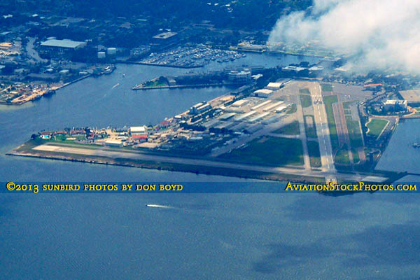 2013 - historic Albert Whitted Airport (SPG) in St. Petersburg airport aerial stock photo #1931