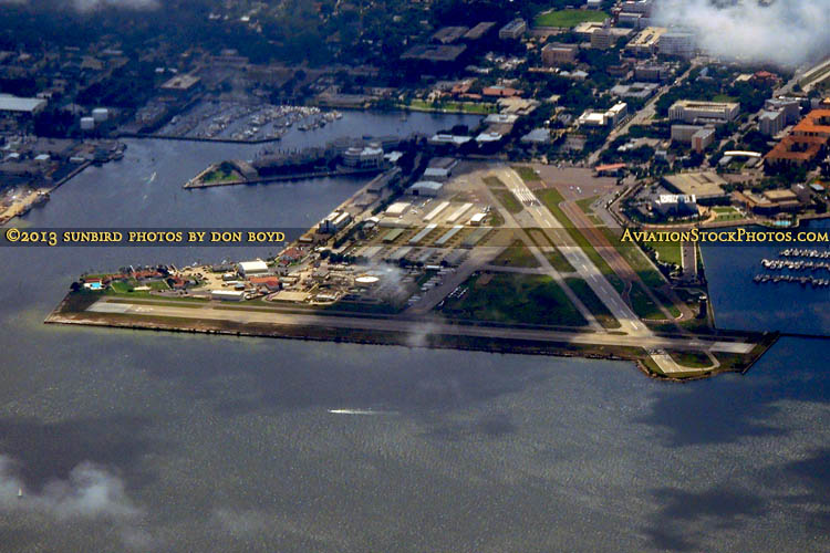 2013 - historic Albert Whitted Airport (SPG) in St. Petersburg airport aerial stock photo #1933