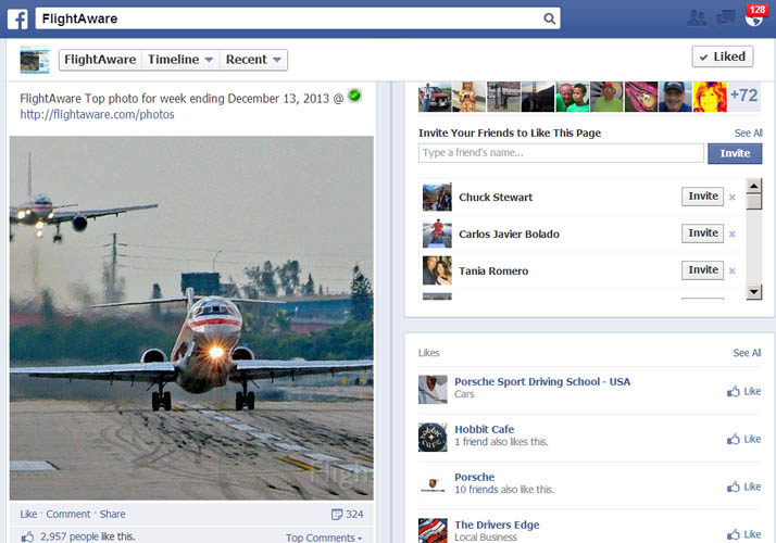 2013 - FlightAware Top Photo of the Week ending December 13, 2013 by Don Boyd