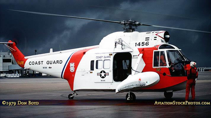 1979 - USCG Sikorsky HH-52A Sea Guard  #CG-1456 military aviation stock photo #CG-7901