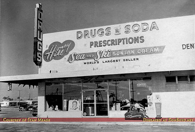 1950s - Honey Hill Pharmacy at NW 2nd Avenue (State Road 7 and US 441) and Honey Hill Road (NW 199th Street)