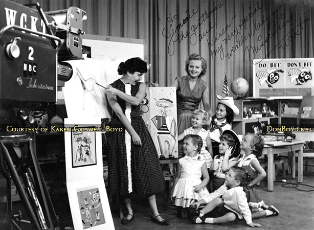 1957 - Miss Iris and her Romper Room Show on WCKT-TV Channel 7 Miami ...