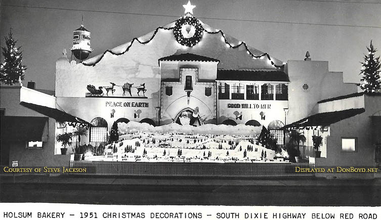1951 christmas decorations at holsum bakery on s dixie highway and red road