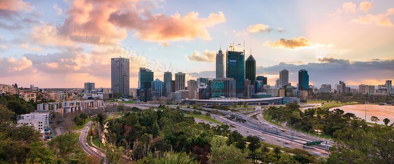 Perth City Sunrise, 16th August 2011