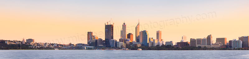 Perth and the Swan River at Sunrise, 20th August 2011